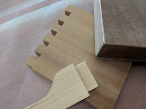 Trade School Classes: Sample of Tenon, Dovetail, and Finger Joints